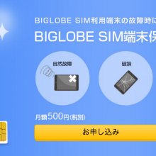biglobe sim terminal guarantee