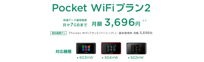 Pocket-WiFiプラン2