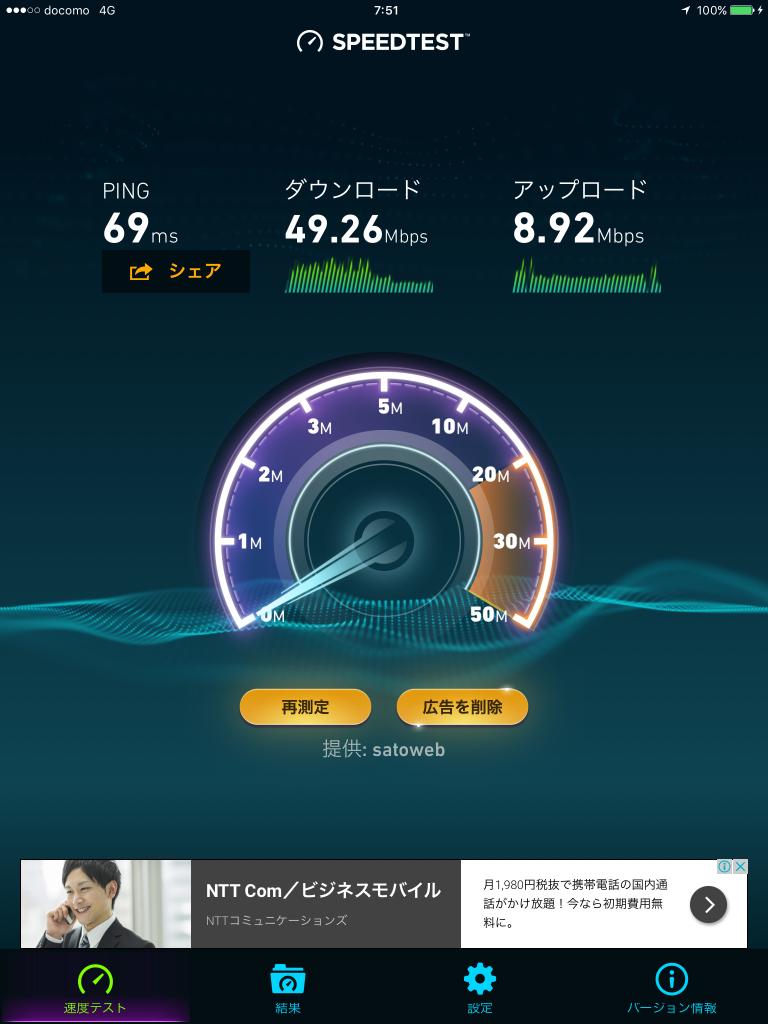 U-mobileの速度